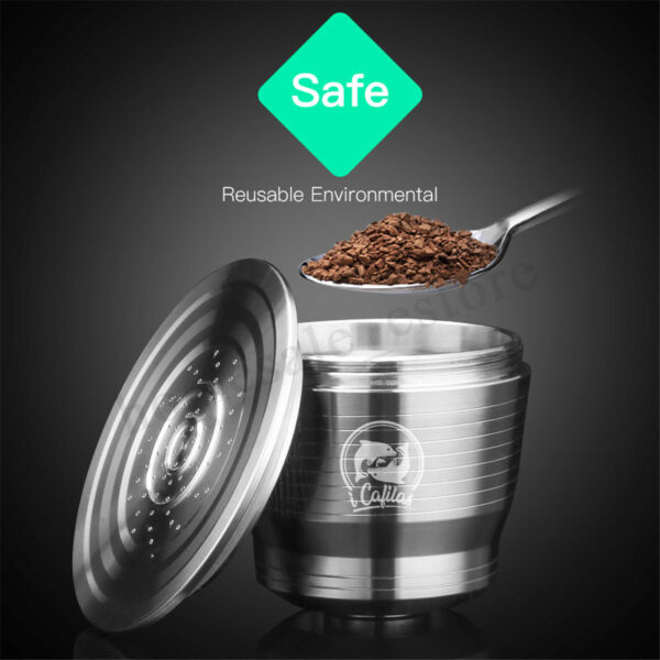 Stainless Stee lReusable Coffee Capsule Refillable Kit For Nespresso U Machine