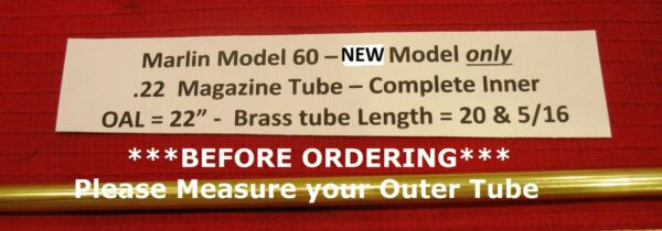 Marlin Model 60 .22 Inner Replacement Tube - for Post 1975 Rifles Part # 507522