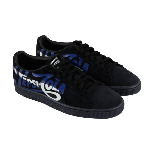 Puma Suede Classic X Pepsi Mens Black Suede Lace Up Sneakers Shoes