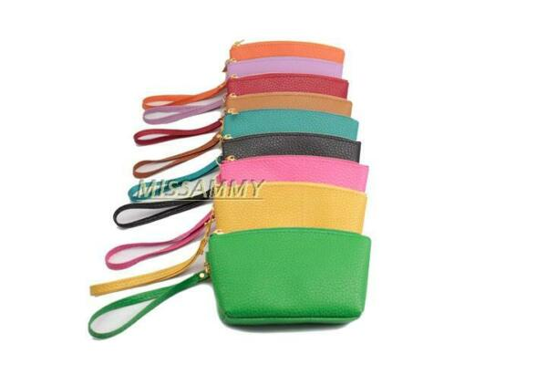Small Zipper Clutch Wristlet Handbag Key Wallet Coins Purse Pouch Fashion Gift $4.99