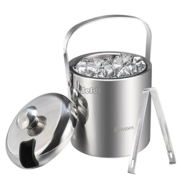 Stainless Champagne Ice Bucket High Capacity Handle Thick Ice Pail for Home Bar