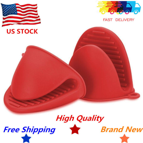 Silicone Oven Glove Heat Resistant Kitchen Cook Mitt Potholder Hand Protection