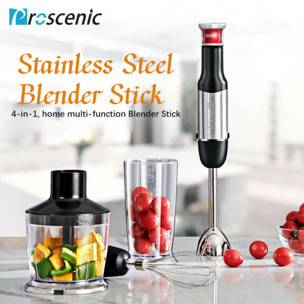 800W Hand Blender Stick immersion Mixer Variable Speed Food Processor KitchenSet