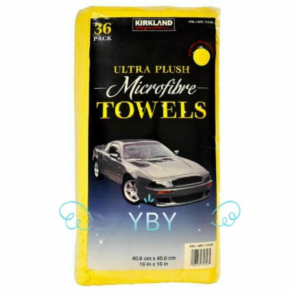 Kirkland Signature Ultra Plush Microfiber Towels Auto Home 36 Pack $29.50