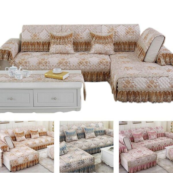 1pc Lace Decor Sofa Cover Slipcover Couch Seater Sectional Pad Protector Towel