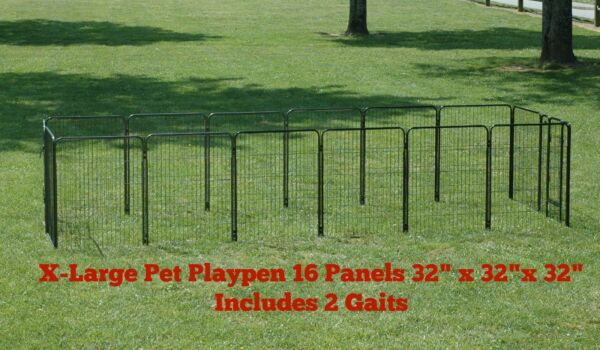 EXTRA LARGE HEAVY DUTY PET EXERCISE PEN TALL RUN PLAYPEN DOG PEN PET PEN