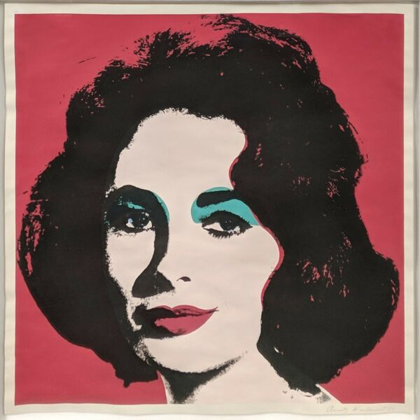 ANDY WARHOL II.7: LIZ 1967  RARE HAND SIGNED PRINT  OTHERS AVAILABLE  GALLART