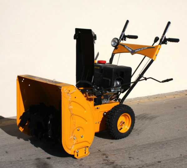 6 Speed Walk Behind 24quot; Gas Snow Thrower 212CC Electric Start Forward amp; Reverse