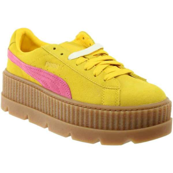 Puma Fenty by Rihanna Suede Cleated Creeper Sneakers - Yellow - Womens