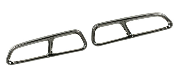 Left+Right Chrome Exhaust Pipe Cover Trim Decor Audi A7 4GA Hatchback (US