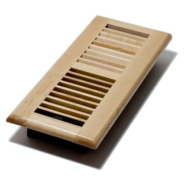20 Decor Grates Natural Maple Wood Louvered Floor Registers 4x10 4x12 2x12