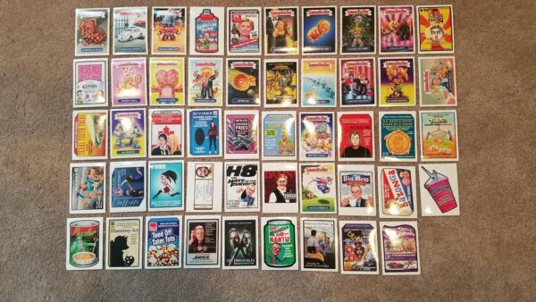 Lot of (49) 2017 Garbage Pail Kids Network Spews Wacky Packages Limited RARE