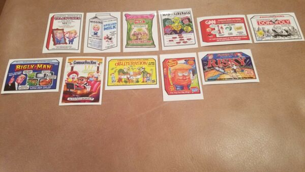 Lot of (11) 2017 Garbage Pail Kids Trumpocracy 100 Days Wacky Packages RARE