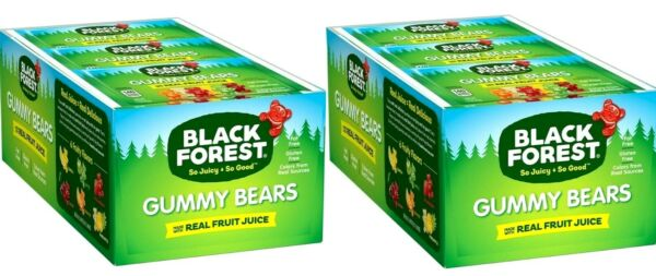 2 Packs Black Forest Gummy Bears Candy 24 CT 36 ozPack