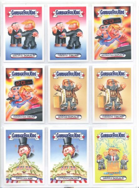 2017 Garbage Pail Kids Apple Pie Presidential Inaug-Hurl Ceremony 19 Sticker Set