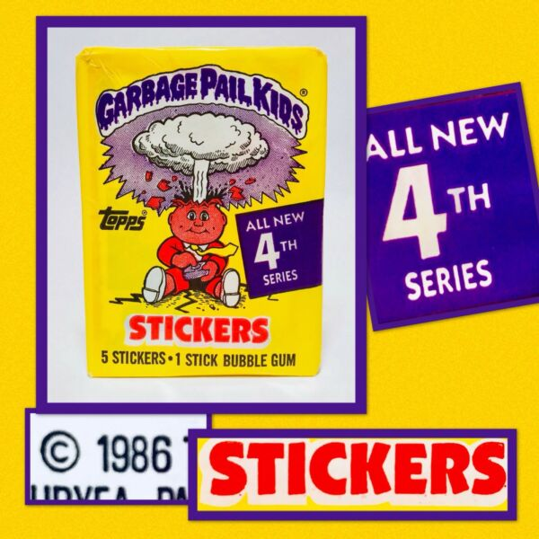 Vintage 1986 Topps SERIES 4 SEALED WAX PACK Garbage Pail Kids candy container