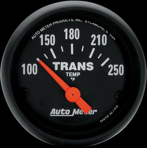 Auto Meter Z-Series 52mm Electric Transmission Temperature Gauge 100-250 Deg F