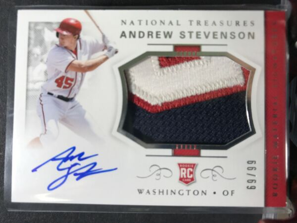 2018 Andrew Stevenson National Treasures Auto Jersey PATCH #6999