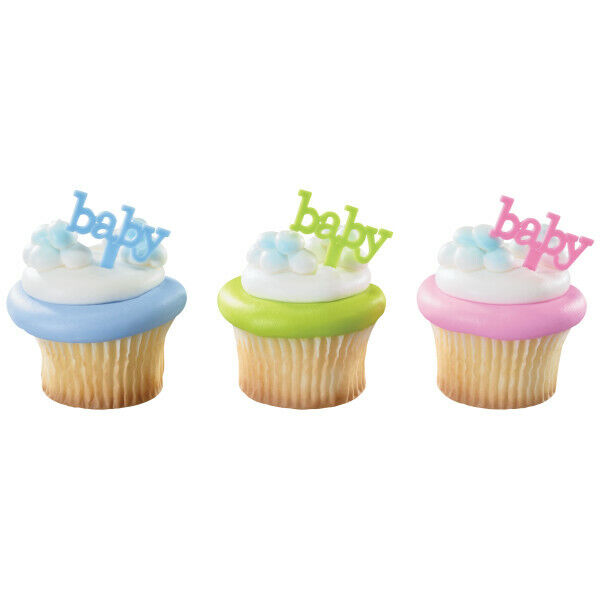 New Baby Cupcake Picks One Dozen Baby Shower