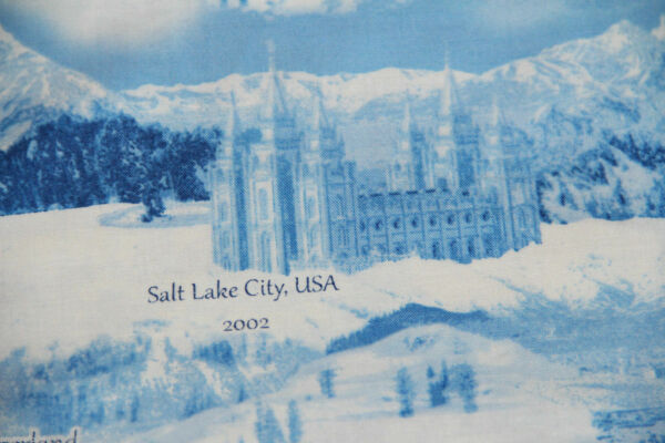 OOP WINTER OLYMPICS multiple locations 100% cotton fabric by the yard Snow scene