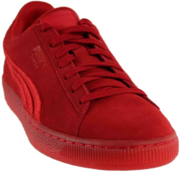 Puma Suede Classic Badge Iced Sneakers - Red - Mens