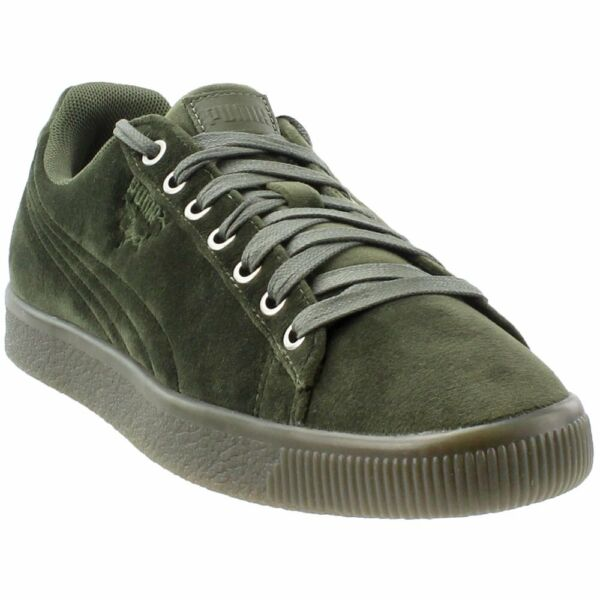 Puma Clyde Velour Ice Sneakers - Green - Mens