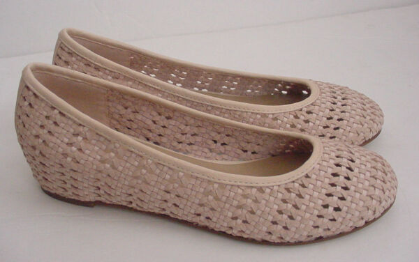 Eileen Fisher Pink Ballet Flat Sew Rose Water Strap Weave Leather Shoe 6.5 $215 $69.99