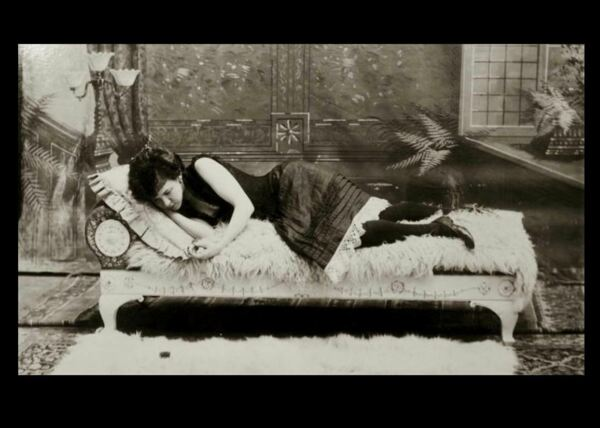 Sexy Prostitute Girl PHOTO New Orleans Brothel Vintage c1900 Bedroom Girl #18