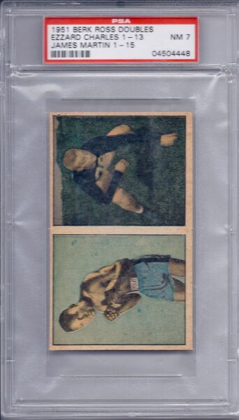 1951 Berk Ross Doubles Ezzard Charles James Martin 1-13 1-15 NM PSA 7