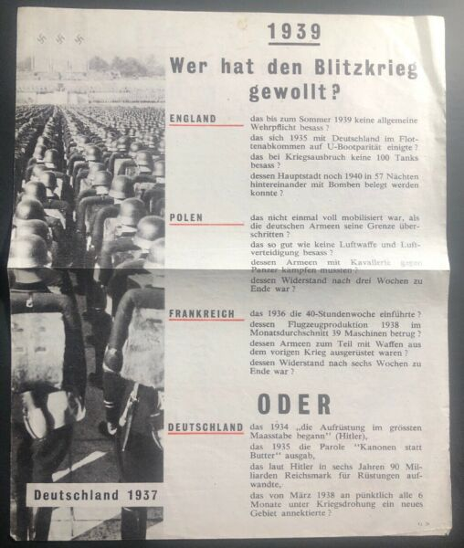 Original WW 2 USA Allies Leaflet For German Troops He Will Lose The World War