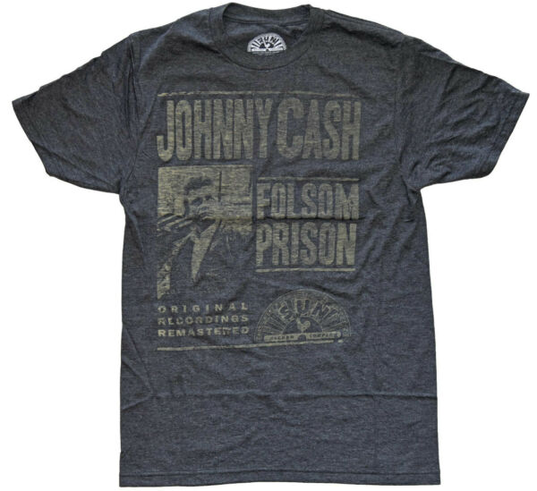 Johnny Cash Folsom Prison Vintage Distressed Design Men's T-Shirt New