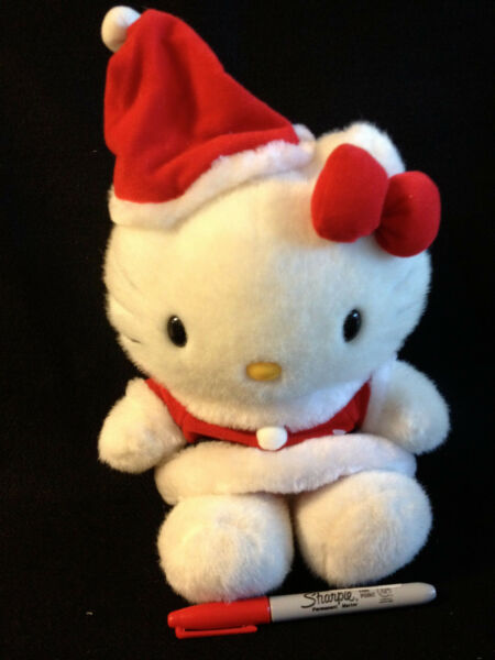 Gorgeous 13 inch Christmas Sanrio Kitty Plush from Japan ship free
