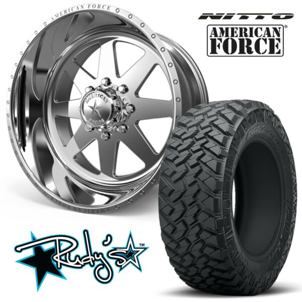 (4) 22x12 American Force SS8 Independence Wheels 35