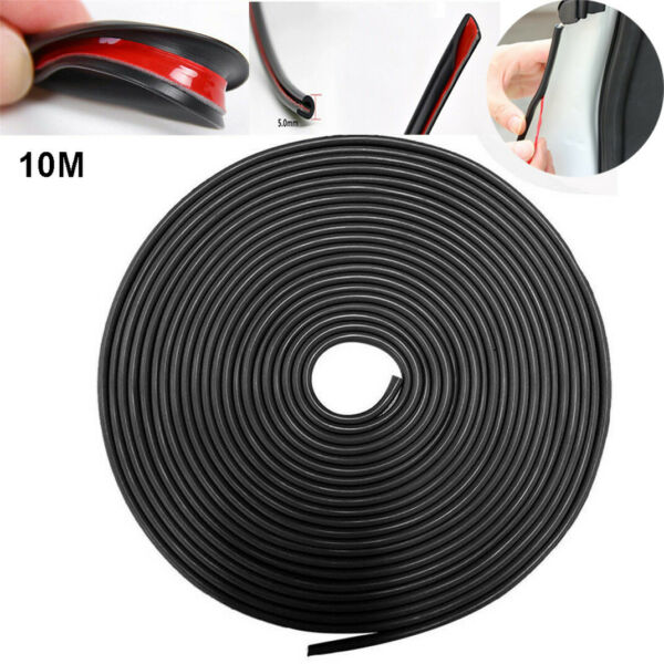 32ft Black Rubber Seal Car Door Edge Guard Trim Molding Protector Auto Strip