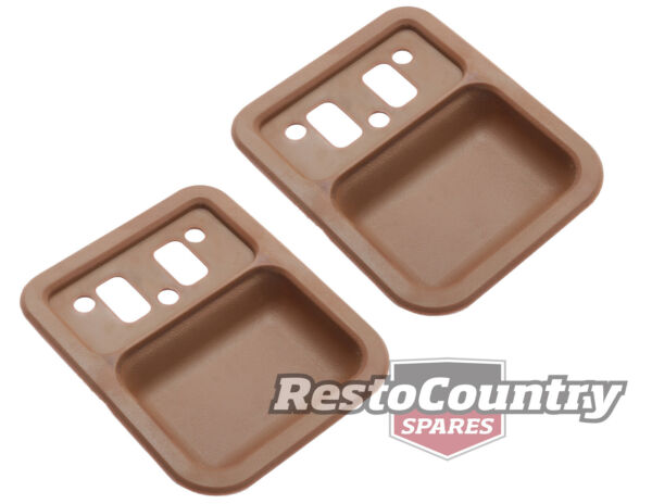 Ford Door Handle Cup Insert PAIR Saddle  Brown Front or Rear XT XW XY ZB ZC ZD