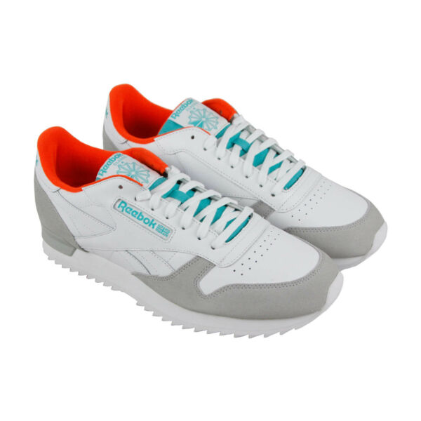 Reebok Classic Leather Ripple CN5878 Mens White Casual Low Top Sneakers Shoes