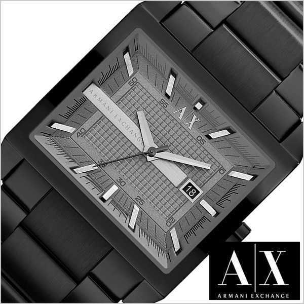 ARMANI EXCHANGE MEN'S  BLACK IP METAL WATCH AX2202