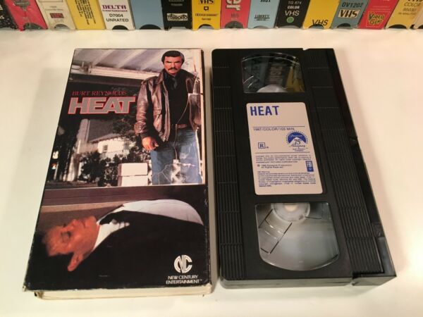 Heat 80#x27;s Crime Action Thriller VHS 1986 Burt Reynolds Peter MacNicol Las Vegas $5.09