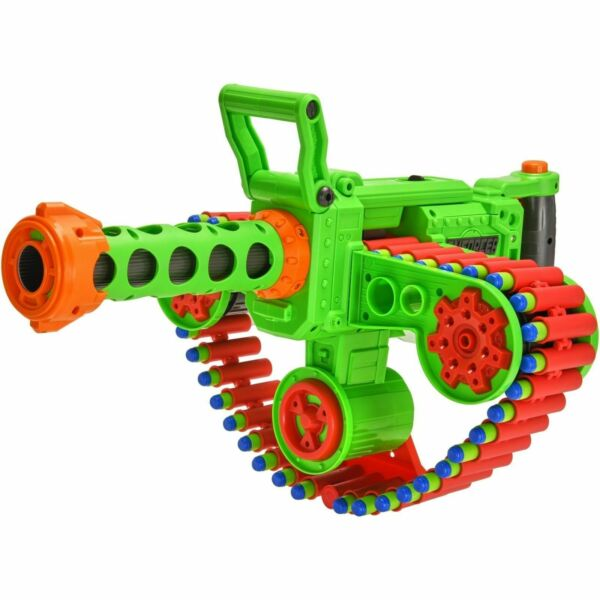 Big Nerf Gatling Machine Gun Motorized Automatic Belt Blaster Best For Kids Auto