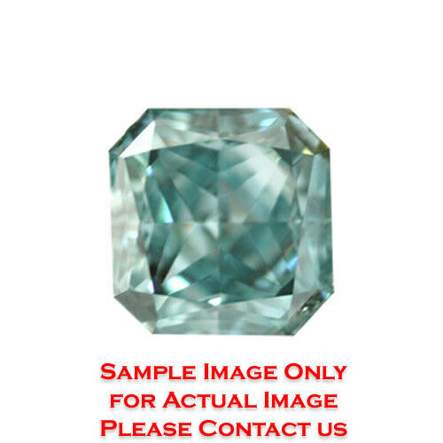 2.94ct Natural Radiant Loose Diamond GIA Fancy Greenish BlueSI1 (2165102119)