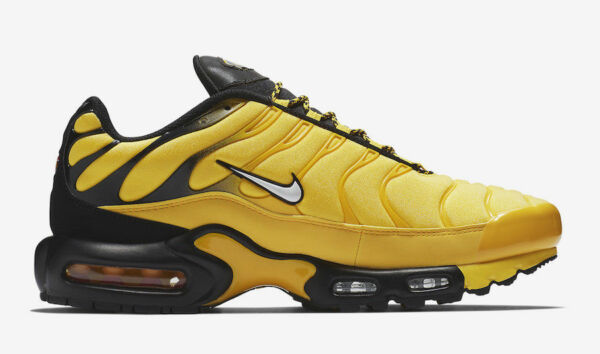 AUTHENTIC NIKE Air Max Plus Frequency Pack Tr Yelllow Black AV7940 700 Men size