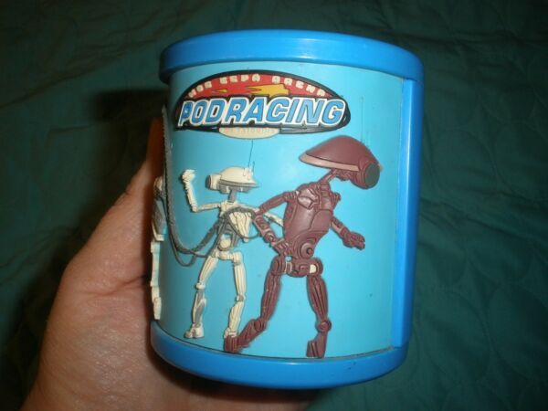 STAR WARS Blue Cup or Cozy Pod Racing on Tatooine Texture Relief JAY FRANCO