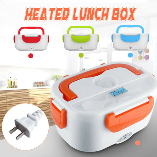 1.5L Portable Electric Heated Lunch Box Food Storage Warmer Container 40W 110V