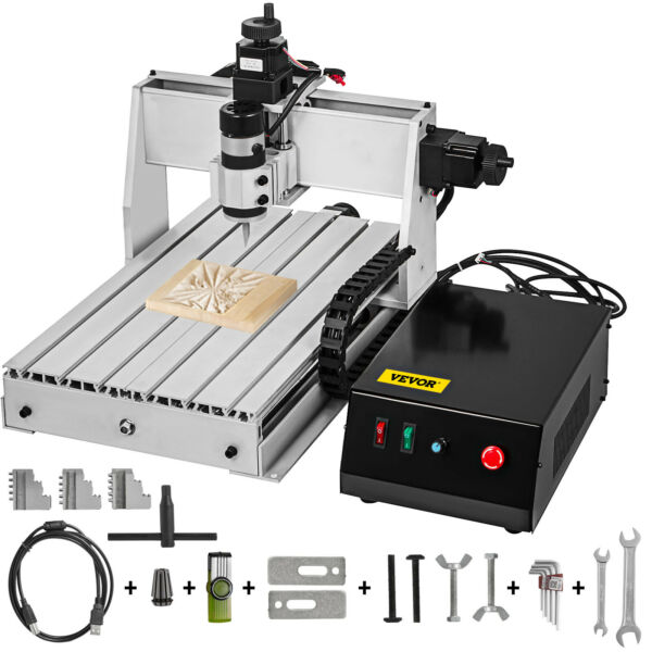 3 Axis CNC 3040 Router ER11 USB 500W 3D Milling Drilling Cutter Wood PVC 110V $475.98