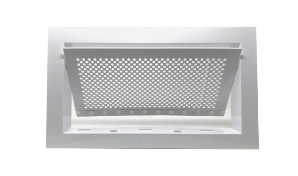 Freedom Flood Vent- FEMA Compliant ICC-ES Certified 250 sq. ft. Coverage- White