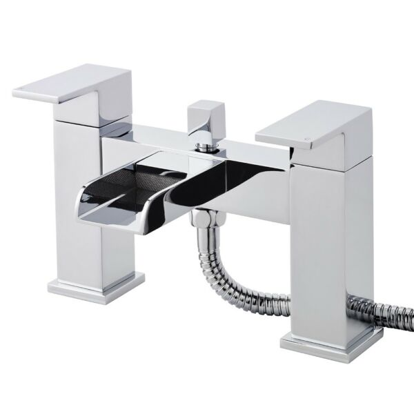 Strike Open Spout Waterfall Bath Shower Mixer Tap TWF304 Hudson Reed