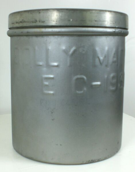 10 Quart Steel Metal Ice Cream Pail Bucket Milk Dairy Can DOLLY MADISON E C 1938