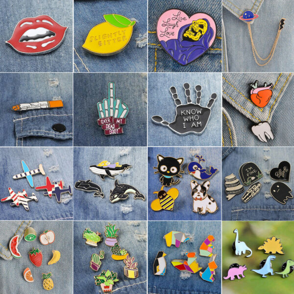 1Set Halloween Cartoon Enamel Lapel Collar Pin Corsage Brooch Xmas Jewelry Gift