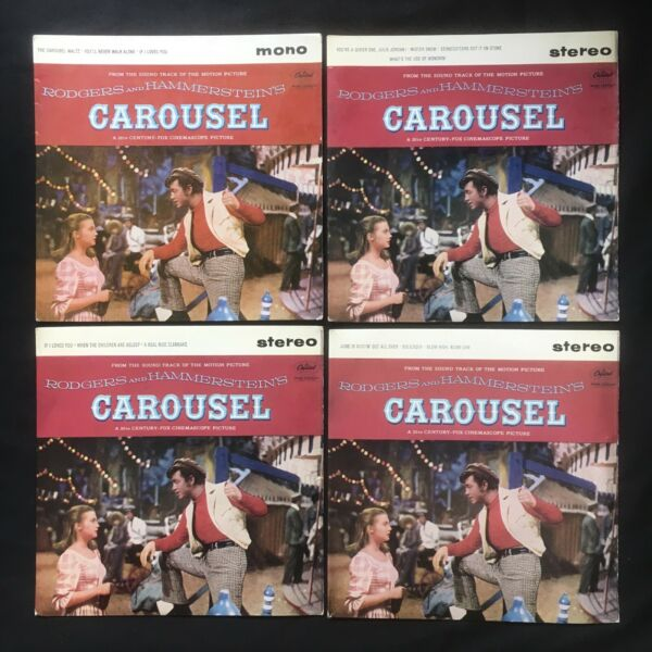 "CAROUSEL RODGERS HAMMERSTEIN Part 1 4 CAPITOL UK Original 4 x 7"" 45 VINYL NM"