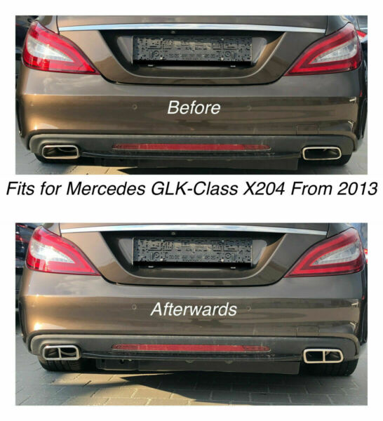 Chrome Exhaust Pipe Cover Trim Decor Mercedes GLK-Class X204 From 2013 (212